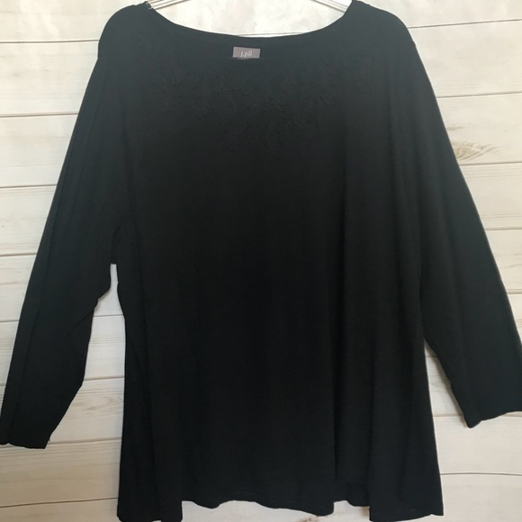 cb92eef1 J. Jill Tops | J Jill Black Top Plus Size 3x Shirt Blouse Jjill ...